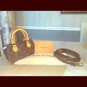 Authentic Louis Vuitton Nano with crossbody strap